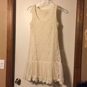 Anthropologie a'reve cream lace dress, S